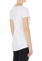 Lithe - Basic T-shirt with Ruching Detail White