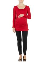 Cherry Melon - Side-gauge Long-sleeve Top Red