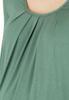 Cherry Melon - Pleat Top long sleeve CM163A- Fern Green Mid Green