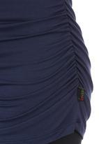Cherry Melon - Side-gauge Long-sleeve Top Navy