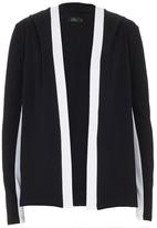 Trigger - Slouchy Hoodie with Panels Black/White Black and White