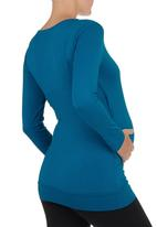 Cherry Melon - Front Wrap Top Mid Green Mid Green