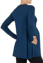 Cherry Melon - Inverted Pleat Top Mid Blue