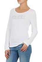 GUESS - Long-sleeve Logo T-shirt White