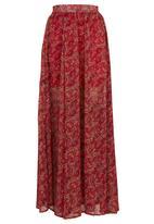 c(inch) - Full Maxi Skirt Multi-colour