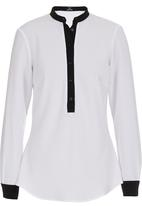 KARMA - Colourblock Blouse Black/White Black and White