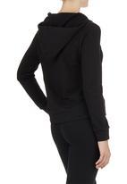 Lithe - Hoodie with Zip Detail Black