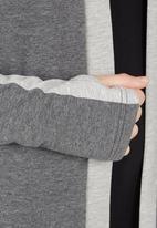 Spree Designer - Slouchy Hoodie with Panels Dark Grey Dark Grey