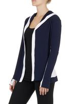 Trigger - Slouchy Hoodie Blue/White Blue and White