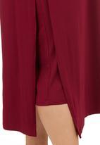 edit - Layered Maxi Dress Dark Red