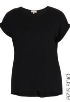 edit - Basic Longer-length T-shirt Black