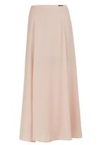 c(inch) - Maxi Skirt with Slit Pale Pink Pale Pink