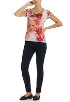 Smash - Oriental Floral T-Shirt Multi-colour