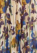 edit - Floral Crushed Midi Skirt Multi-colour  Multi-colour