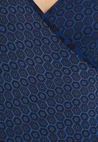 Marianne Fassler - Wrap Top Blue