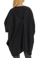 Isabel de Villiers - Back-pleat Melton Tunic Grey