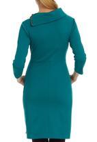 edit - Split-neck Tunic Mid Green Mid Green
