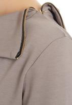 edit - Split-neck Tunic Stone
