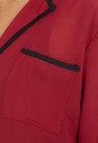 edit - Tipped Blouse Dark Red Dark Red