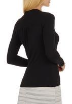 edit - High-neck T-shirt Black