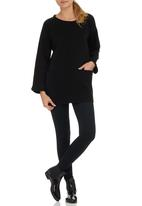 c(inch) - Tunic with Pockets Black