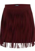 c(inch) - Mini Skirt Neutral  Dark Red