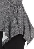 edit - Hanky Hem Tunic Black/White Black and White