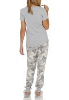 Next - Grey camo pyjamas pale Grey