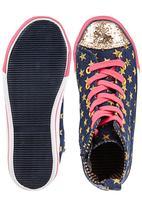 Footwork - Denim High-top Sneakers Multi-colour