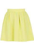 c(inch) - Volume Mini Skirt Yellow