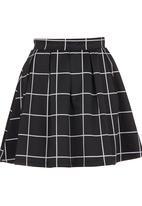 c(inch) - Volume Mini Skirt Black/White Black and White