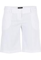 KARMA - Zomah Pinstripe City Shorts White