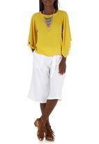 c(inch) - Boxy Blouse Yellow