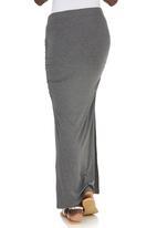 c(inch) - Maxi Skirt Dark Grey