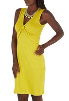 edit - Knot Front Dress Chartreuse