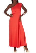 TART - One Shoulder Maxi Coral