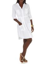 JUST CRUIZIN - Shirt Dress White