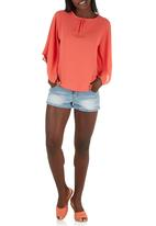 c(inch) - Boxy Blouse Coral