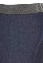 Rebel Republic - Rib Waist Shorts Dark Blue