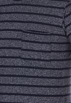 Rebel Republic - Stripe T-shirt With Pocket Navy