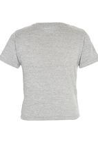 Rebel Republic - T-shirt With Pocket Grey Melange