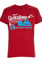 Quiksilver - Printed Tshirt Red