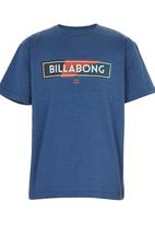 Billabong  - Logo Printed Tee Mid Blue
