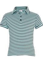 Rebel Republic - Striped Golfer T-shirt Light Green