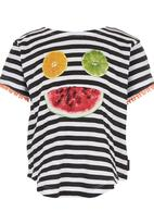 Billabong  - Striped Top Black and White