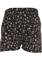 See-Saw - Printed Shorts Black and White
