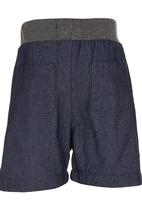 See-Saw - Rib Waist Shorts Dark Blue