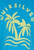 Quiksilver - Printed Tshirt Mid Blue