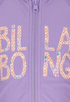 Billabong  - Zip Front Rash Vest Mid Purple