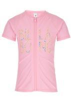 Billabong  - Zip Front Rash Vest Mid Pink